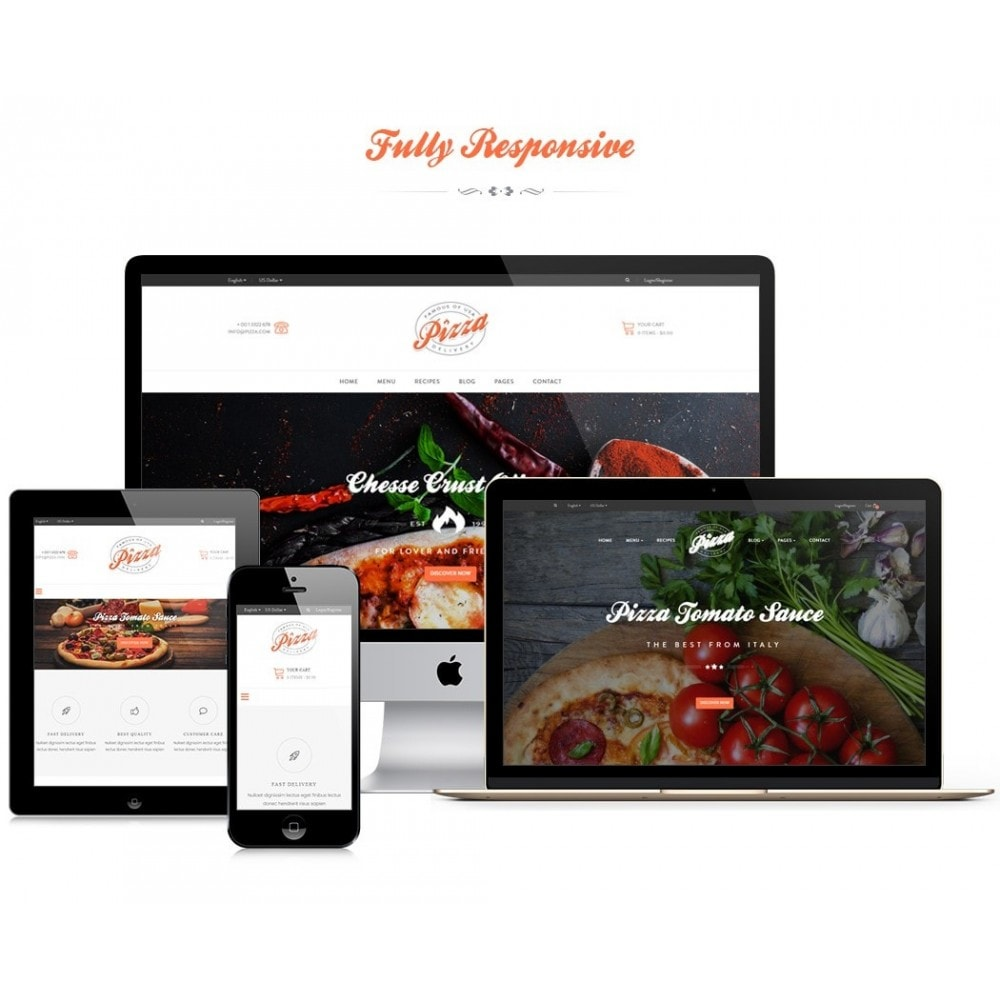 theme - Alimentation & Restauration - JMS Pizza - 1