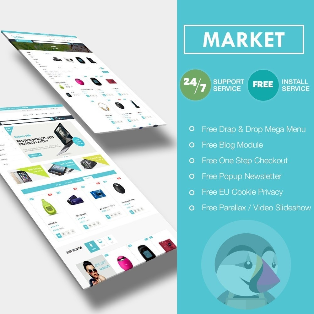theme - Электроника и компьютеры - Market Shopping Premium - 1