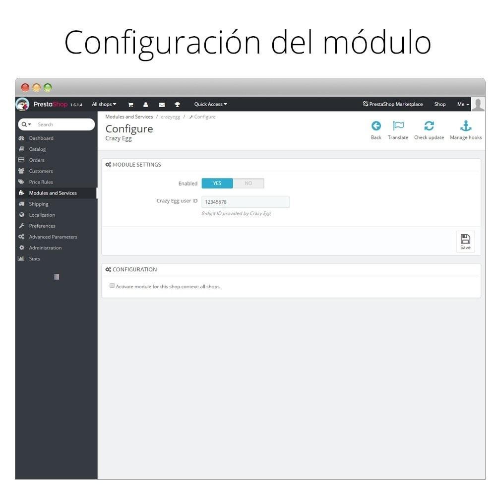 module - Informes y Estadísticas - Crazy Egg - Visualiza dónde clican tus visitantes - 2