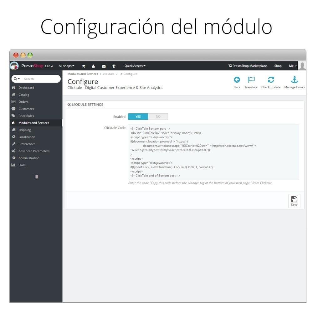 module - Informes y Estadísticas - ClickTale - Optimiza tu tienda y mejora la usabilidad - 2