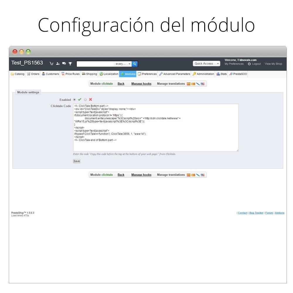 module - Informes y Estadísticas - ClickTale - Optimiza tu tienda y mejora la usabilidad - 3