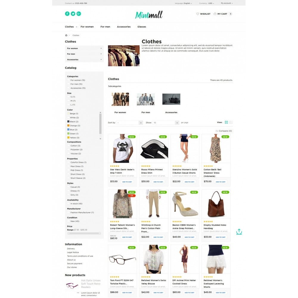 theme - Мода и обувь - Mintmall Fashion - 5