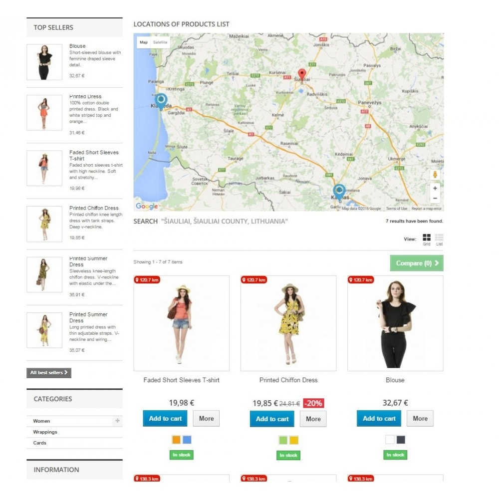 Search Products By Location And