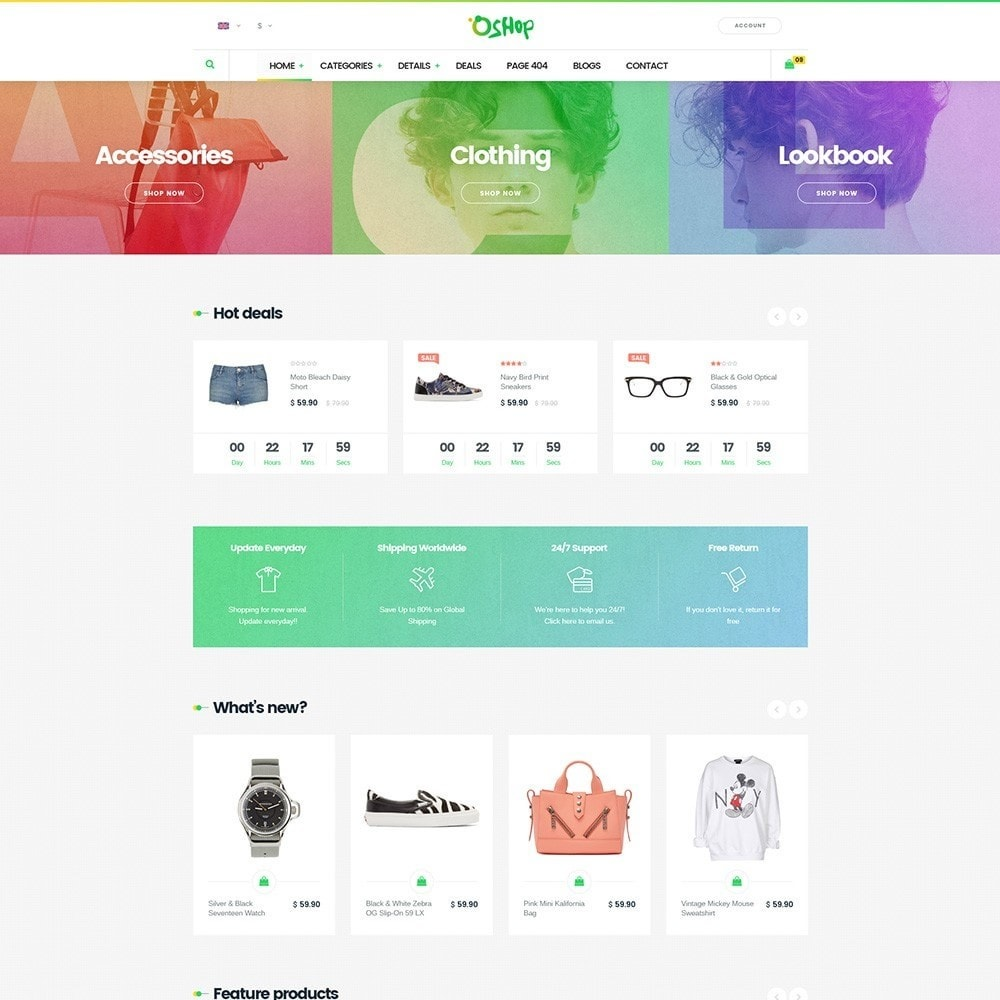 theme - Fashion & Shoes - Oshop - 2