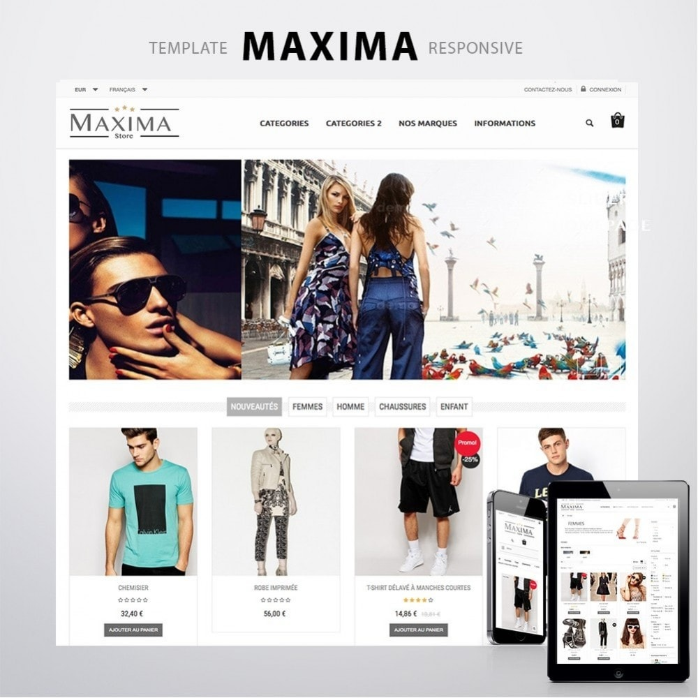theme - Fashion & Shoes - MAXIMA - 1