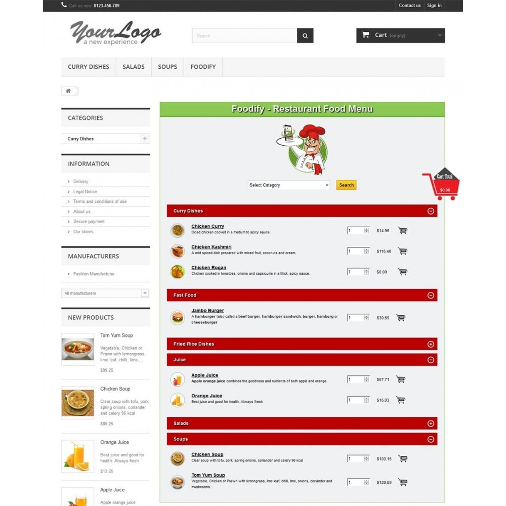 module - Gastronomía y Restaurantes - Foodify Restaurant Food Menu - 1