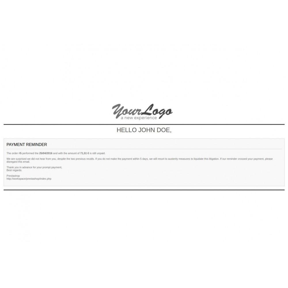 module - Auftragsabwicklung - Unpaid Order Reminder - 1