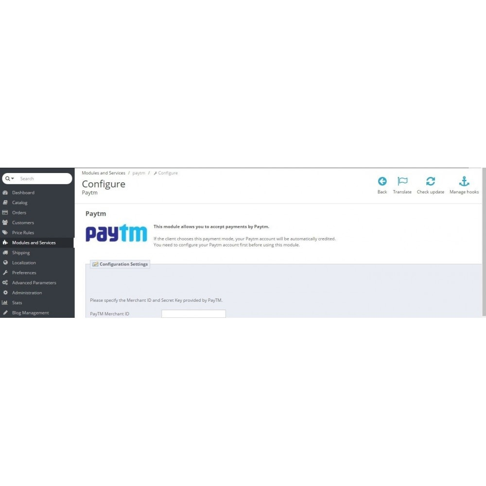 module - Payment by Card or Wallet - PayTM Payment - 2