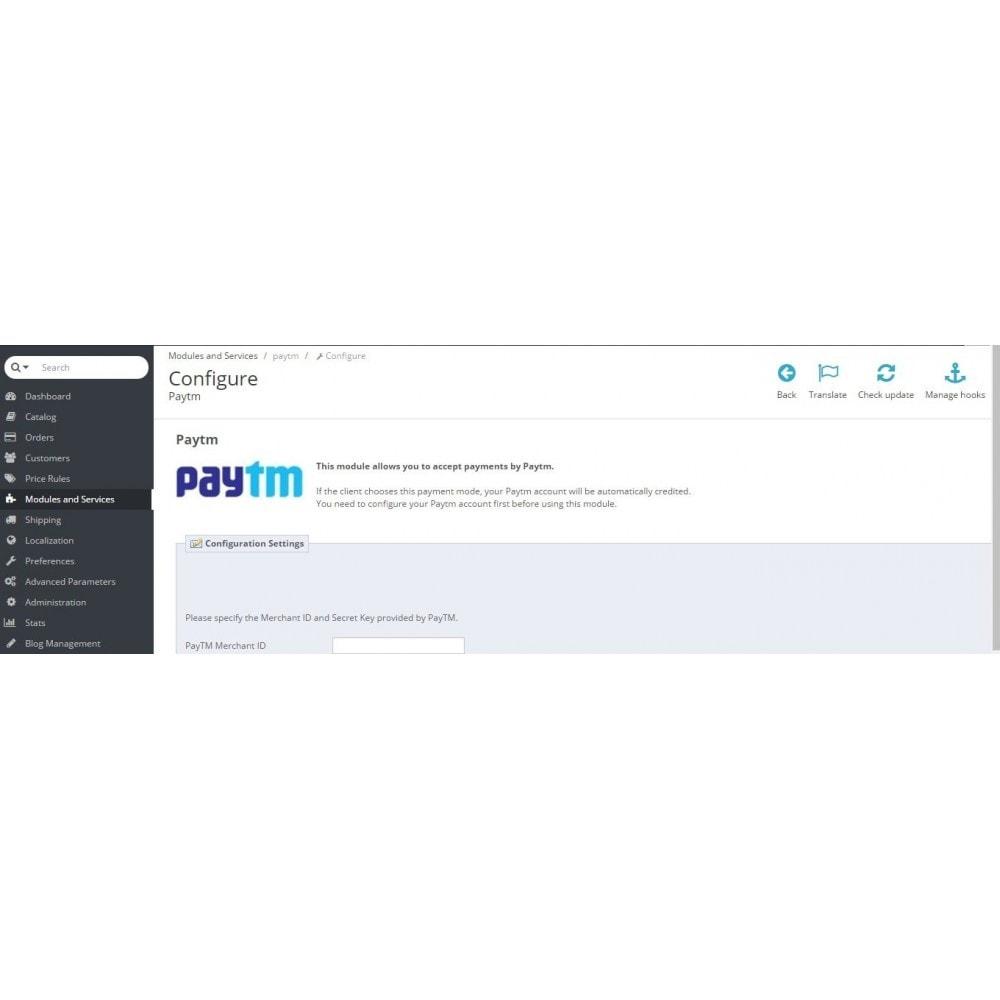 module - Zahlung per Kreditkarte oder Wallet - PayTM Payment - 2