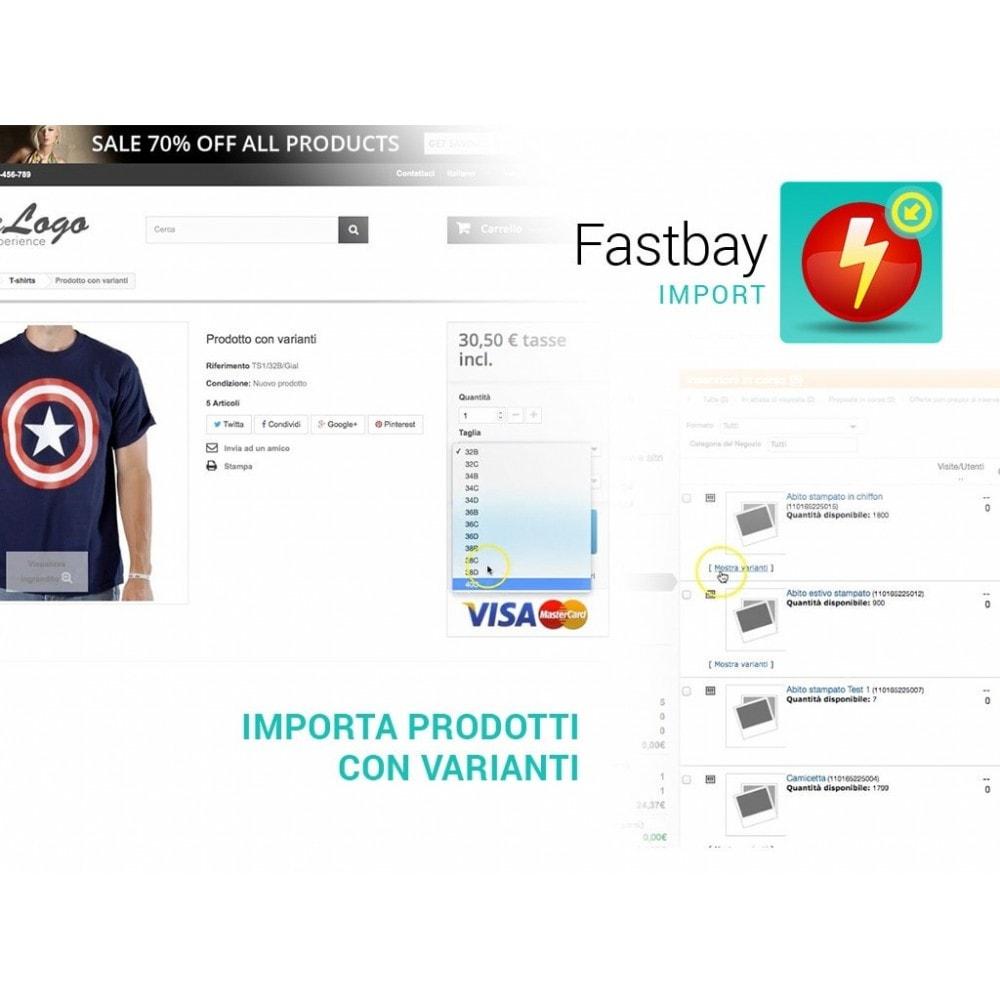module - Data Import & Export - Import eBay - crea prodotti da inserzioni eBay - 4