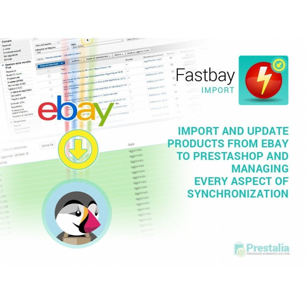 module - Import & Eksport danych (csv, pdf...) - Import eBay - creates products from eBay listings - 1