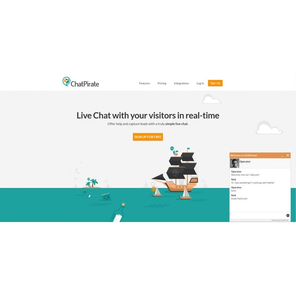 module - Ondersteuning & Online chat - ChatPirate live chat - 2
