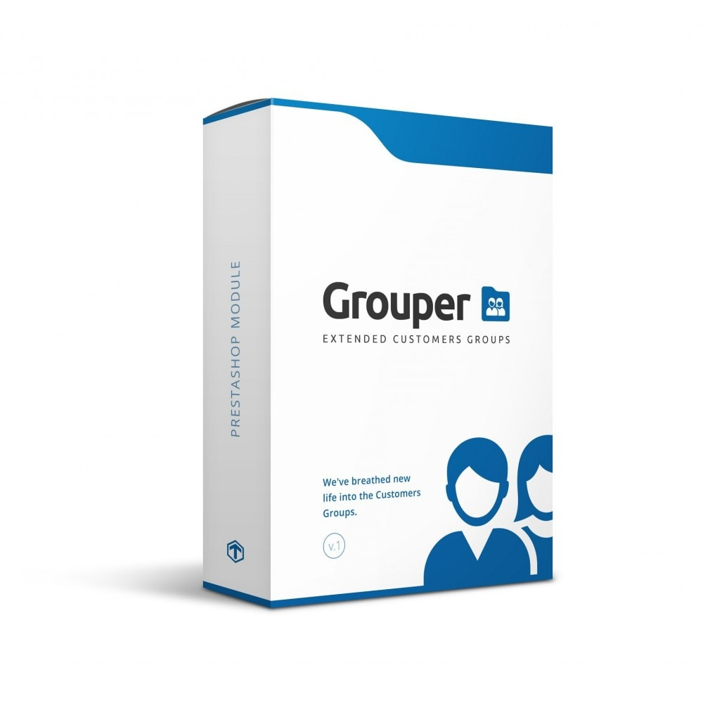 module - Gestion des clients - Grouper - Extended Customers Groups - 1