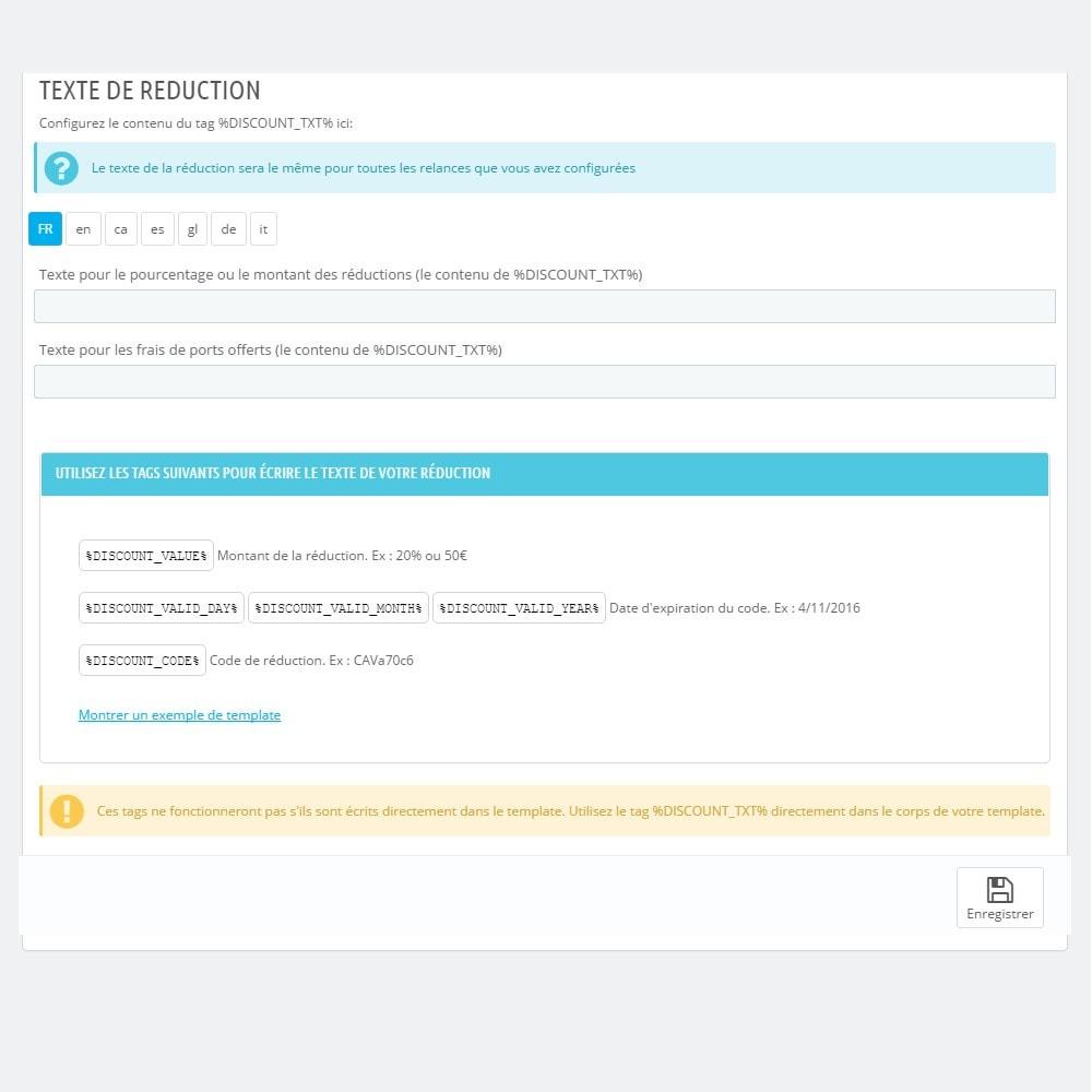 module - Remarketing & Paniers Abandonnés - Relance de Paniers Abandonnés - Pro - 7