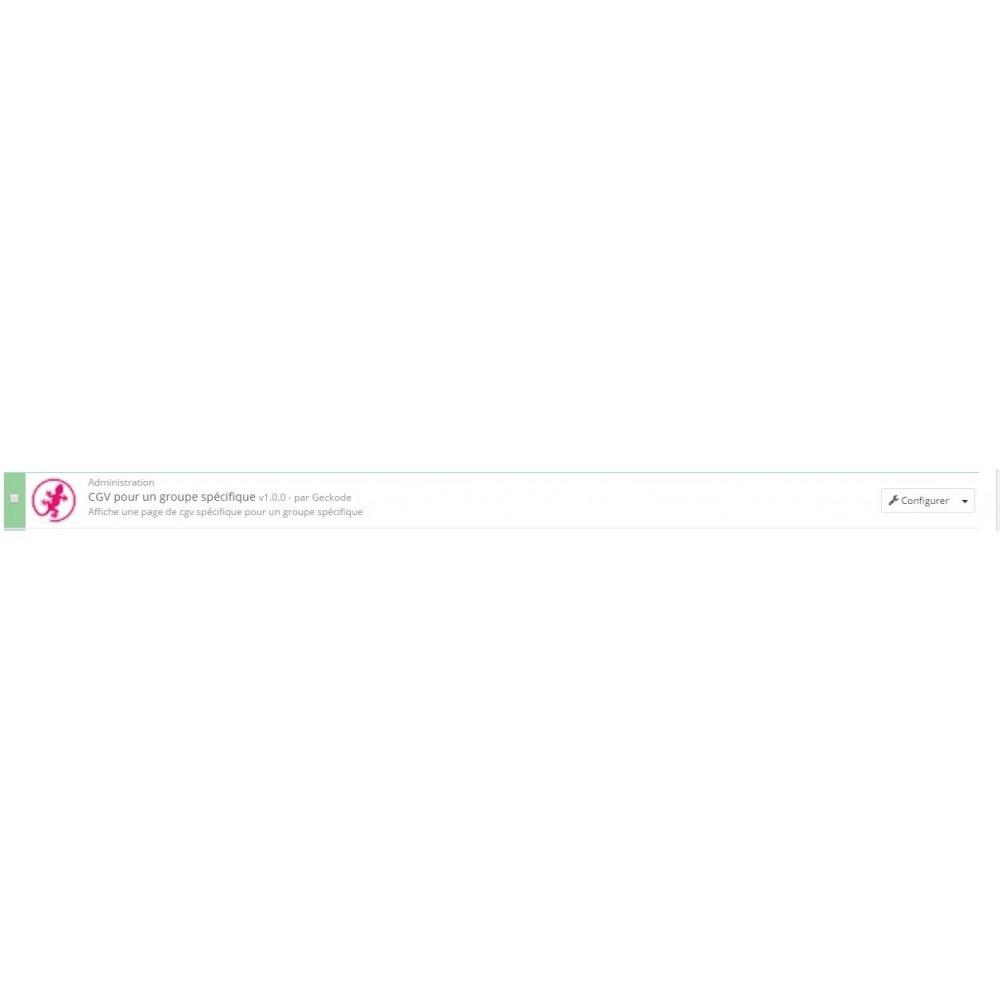 module - Législation (Loi Hamon) - CGV par groupes de clients - 3