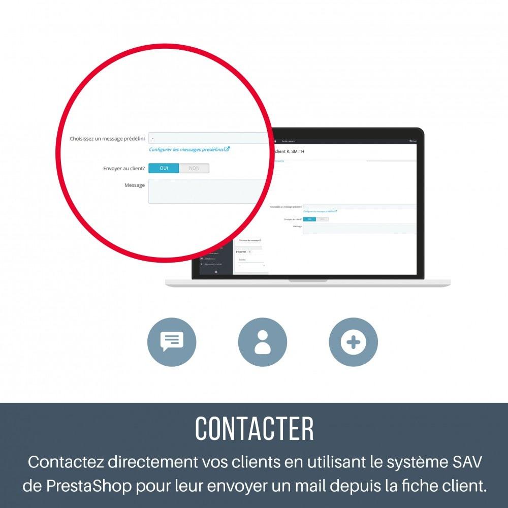 module - Service Client - SAV - Contacter vos clients depuis leur fiche - 2