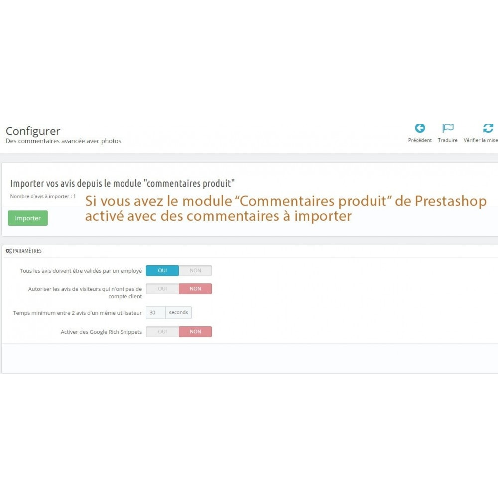 module - Avis clients - Commentaires avancés avec photos + Google rich snippets - 8