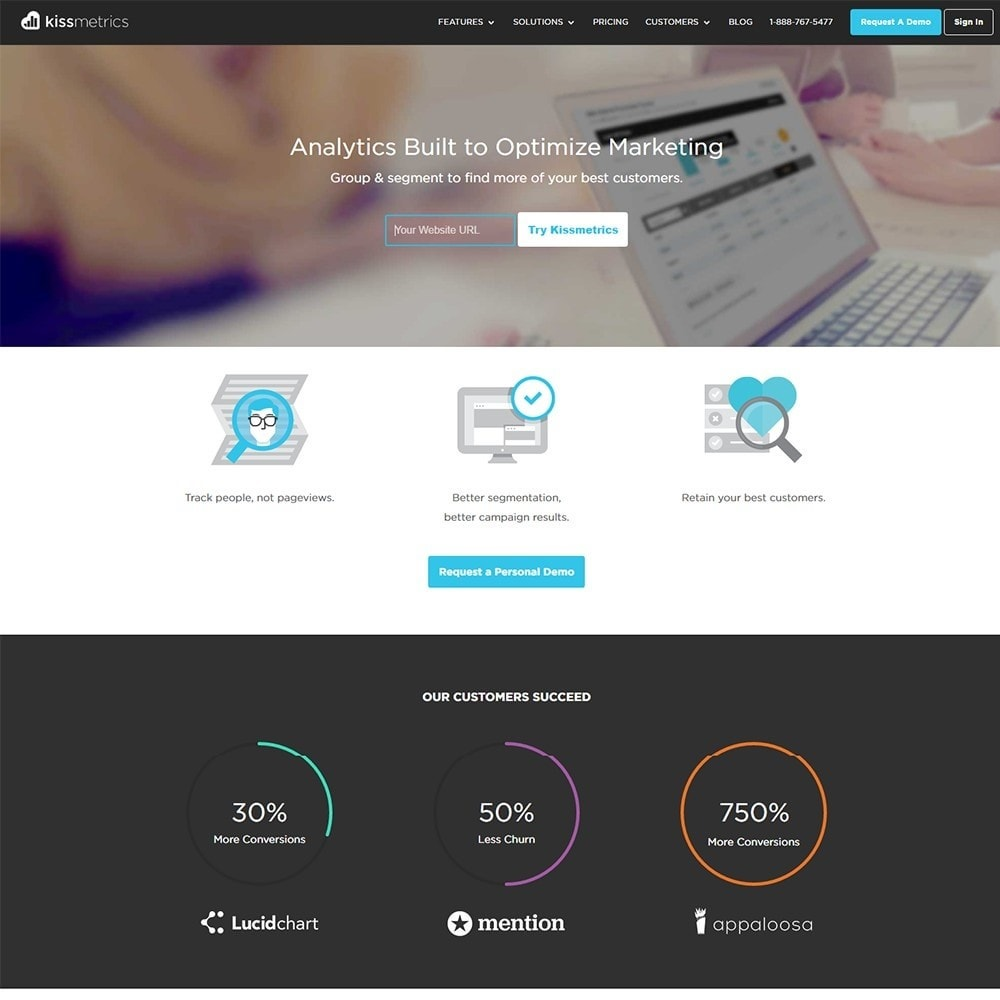module - Analytics & Statistics - Kissmetrics - Customer Intelligence & Web Analytics - 4
