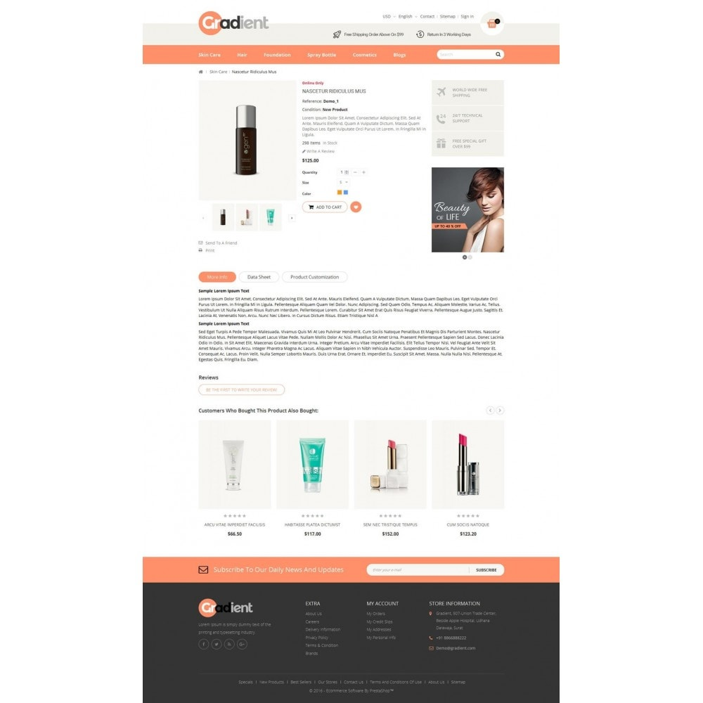 theme - Health & Beauty - Gradient Cosmetic Store - 5