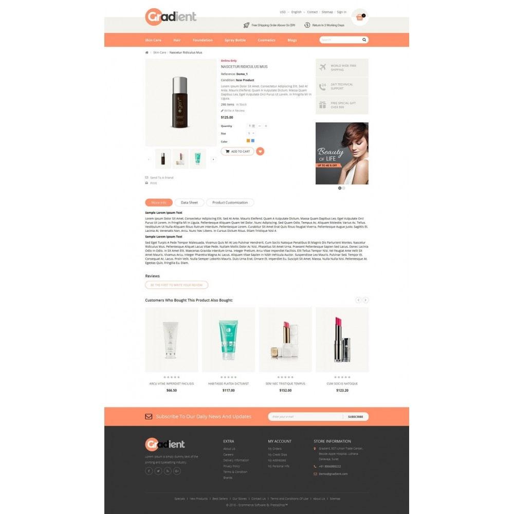 theme - Gezondheid & Schoonheid - Gradient Cosmetic Store - 5