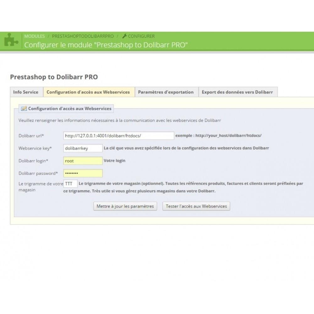 module - Connexion à un logiciel tiers (CRM, ERP...) - Prestashop to Dolibarr PRO - 4