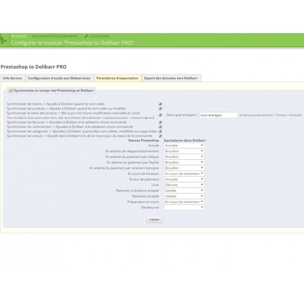 module - Connexion à un logiciel tiers (CRM, ERP...) - Prestashop to Dolibarr PRO - 5
