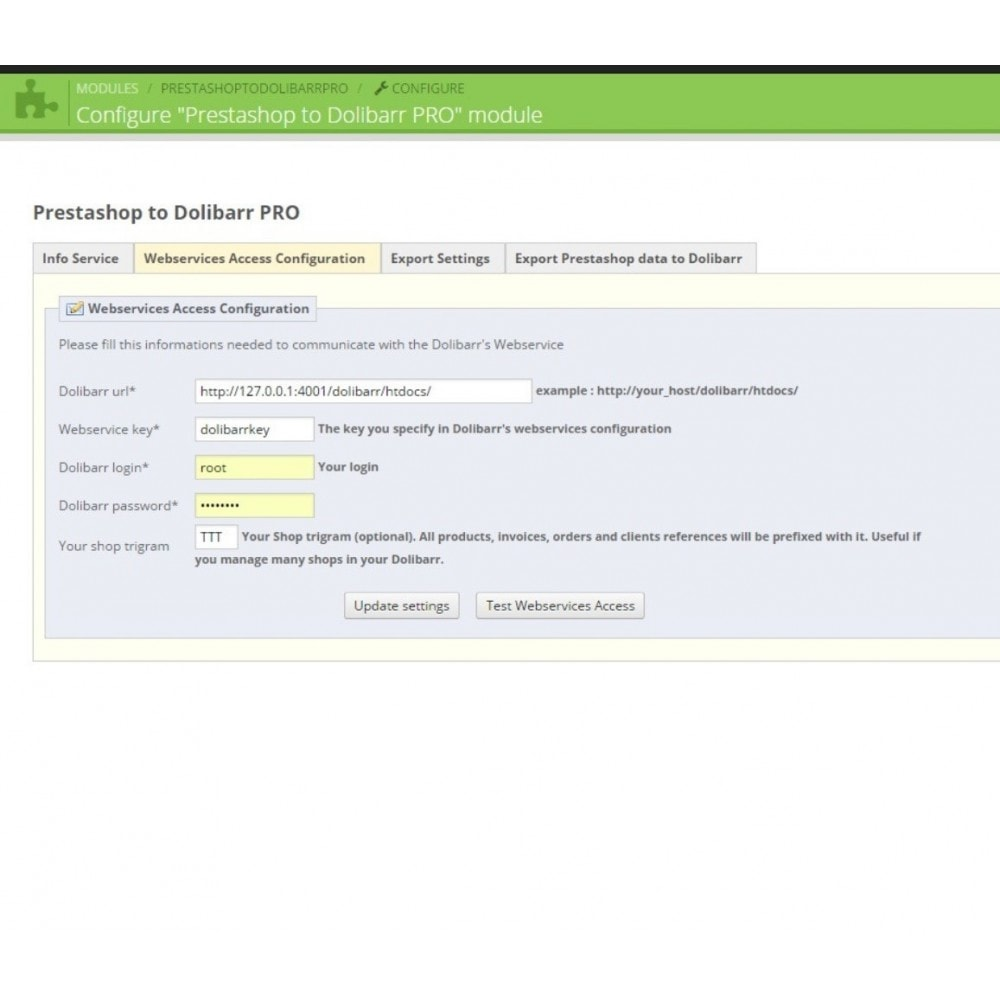 module - Data Integraties (CRM, ERP...) - Prestashop to Dolibarr PRO - 4