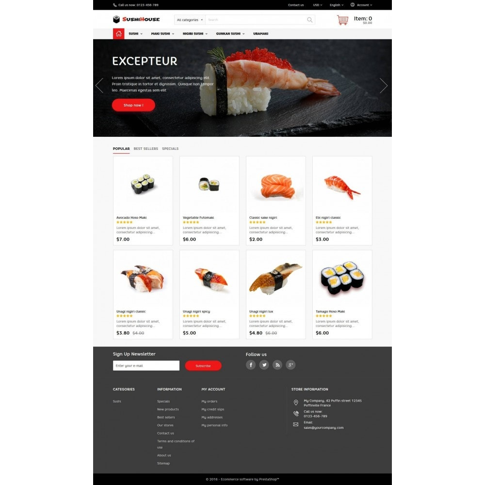 theme - Alimentation & Restauration - SushiHouse - 3