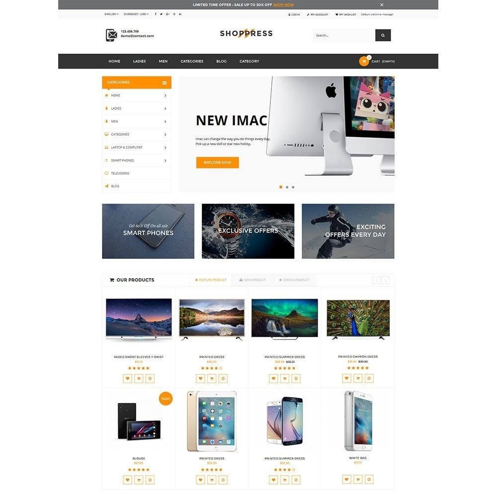 theme - Electronics & Computers - Shoppress Market Premium - 2