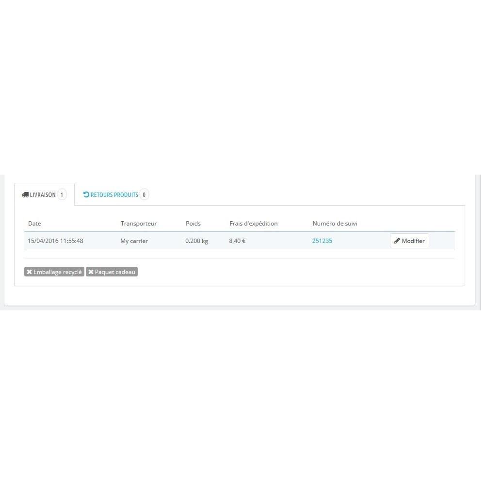 module - Transporteurs - Modify Carrier: Modifier le transporteur d'une commande - 2
