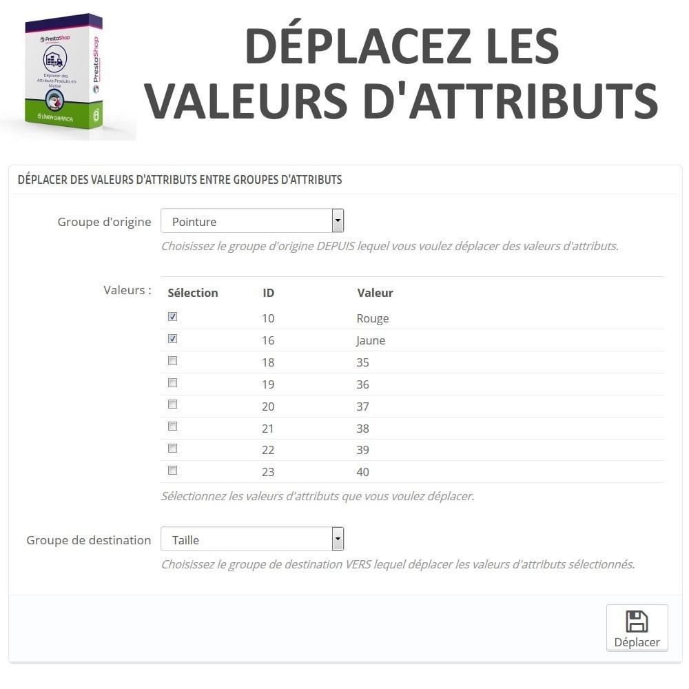 module - Edition rapide & Edition de masse - Déplacer Valeurs d'Attributs entre Groupes d'Attributs - 2