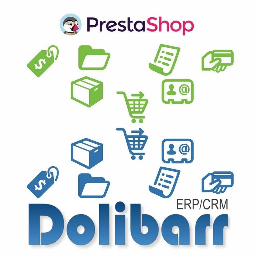 module - Connexion à un logiciel tiers (CRM, ERP...) - Synchronisation Prestashop vers Dolibarr ERP/CRM - 1