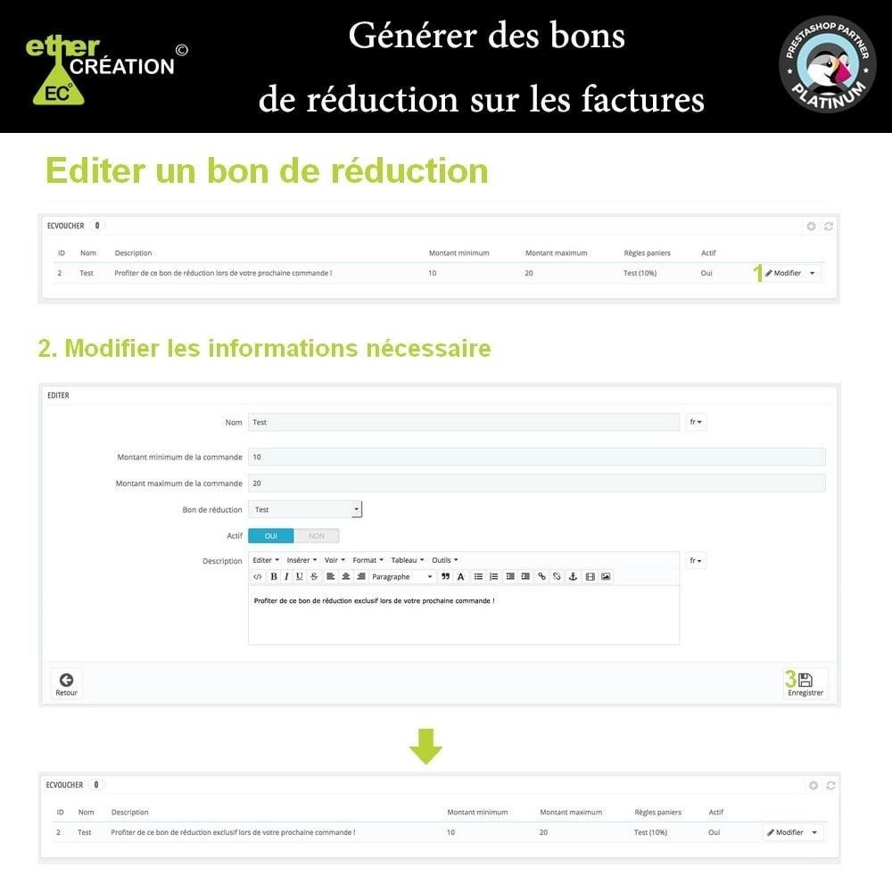 module - Gestion des Commandes - Réduction sur facture en fonction d'un montant - 3