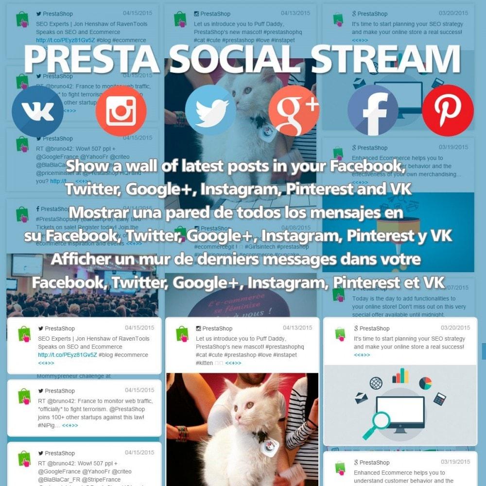 module - Widgety serwisów społecznościowych - Presta Social Stream - 1