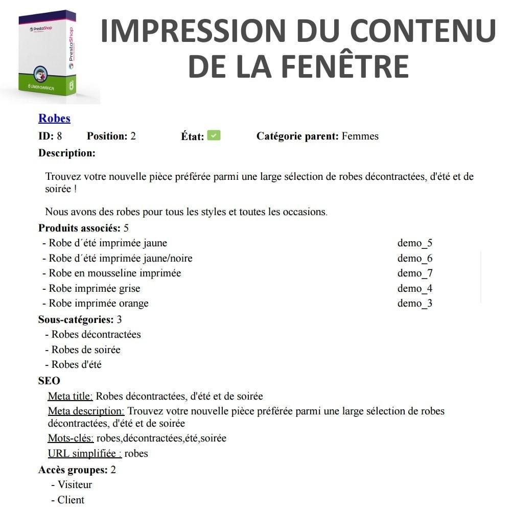 module - Edition rapide & Edition de masse - Aperçu / Accès Rapide aux Détails des Catégories - 3