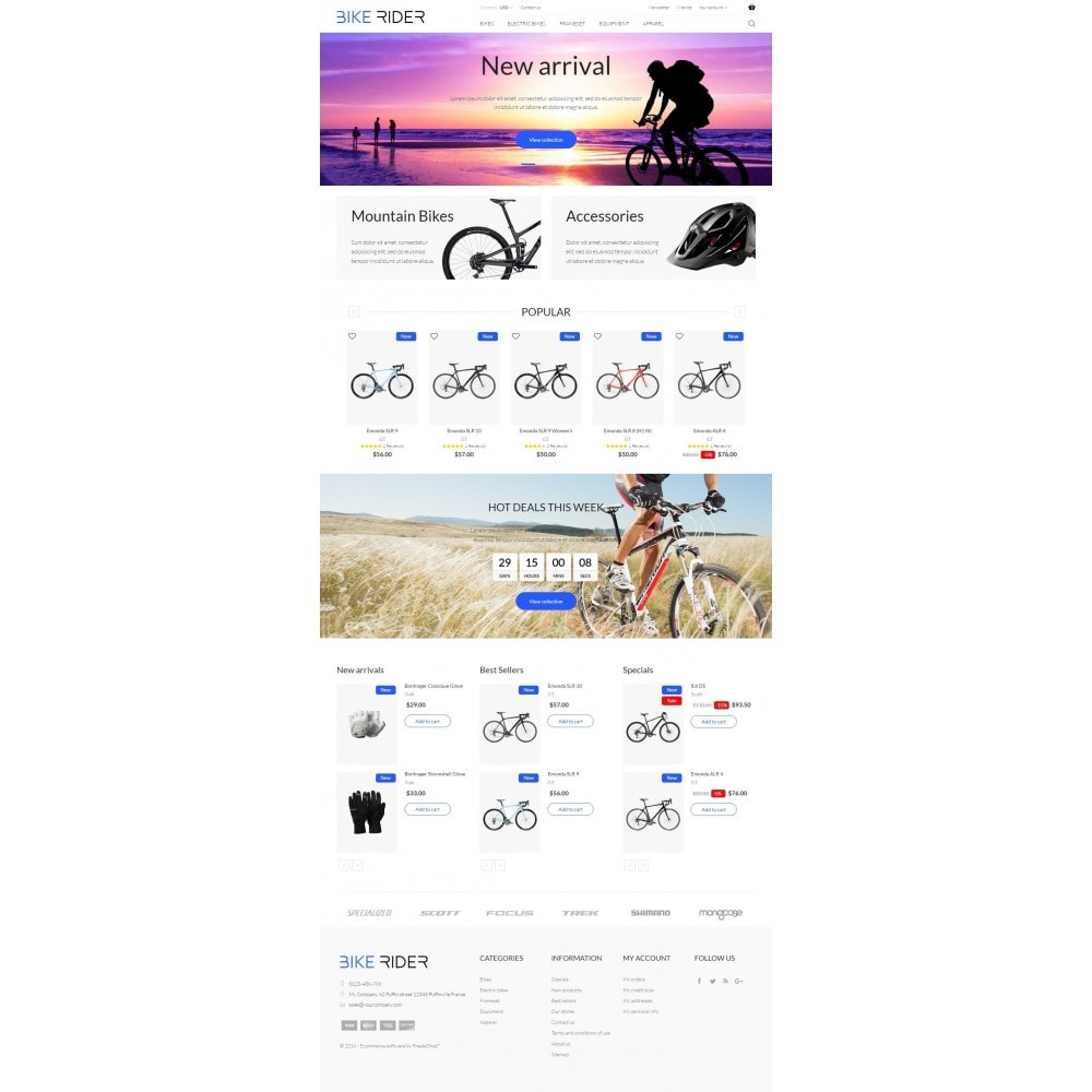 theme - Desporto, Actividades & Viagens - Bike Rider Shop - 5