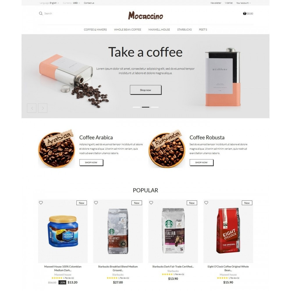 theme - Drink & Wine - Moccacino Coffe Store - 2