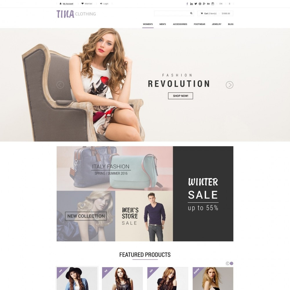theme - Mode & Schoenen - Tina - Kleding Winkel - 2