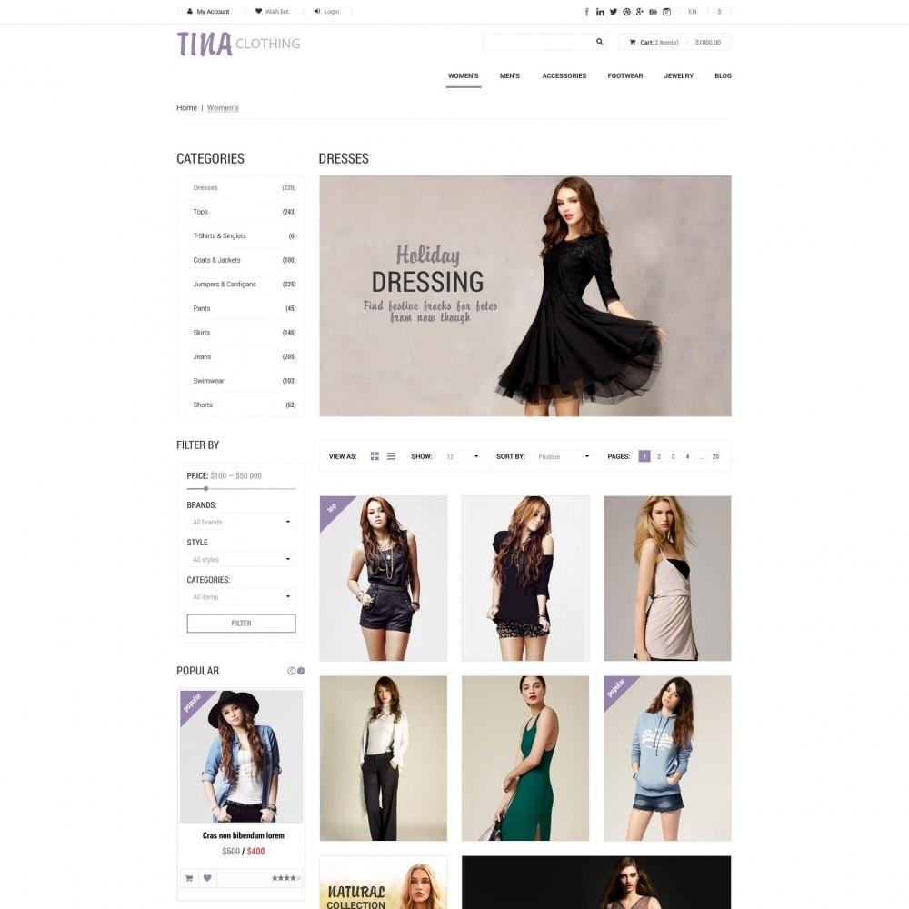 theme - Moda & Calçados - Tina - Loja de Roupas - 3