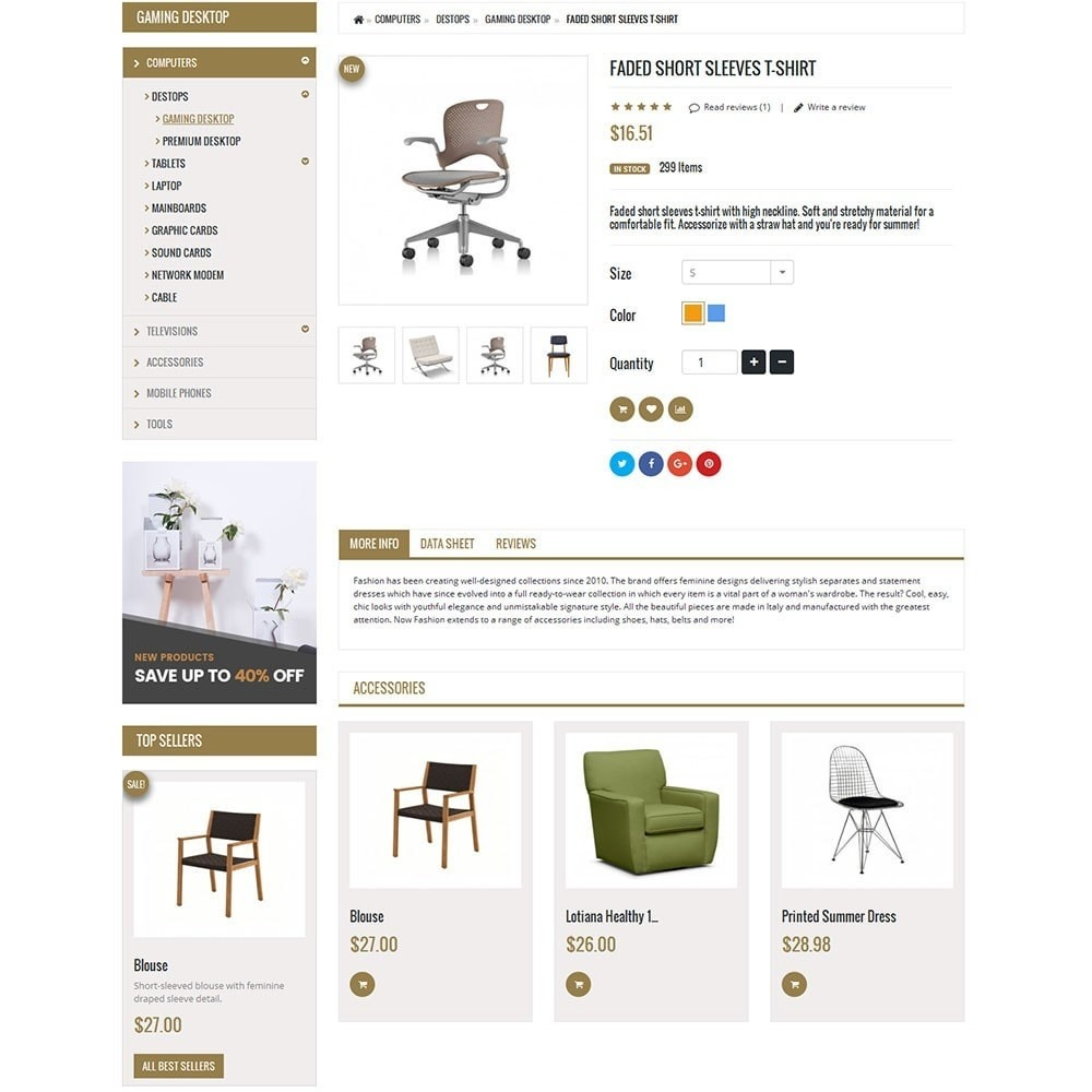 theme - Дом и сад - Furniture Interior Store - 8