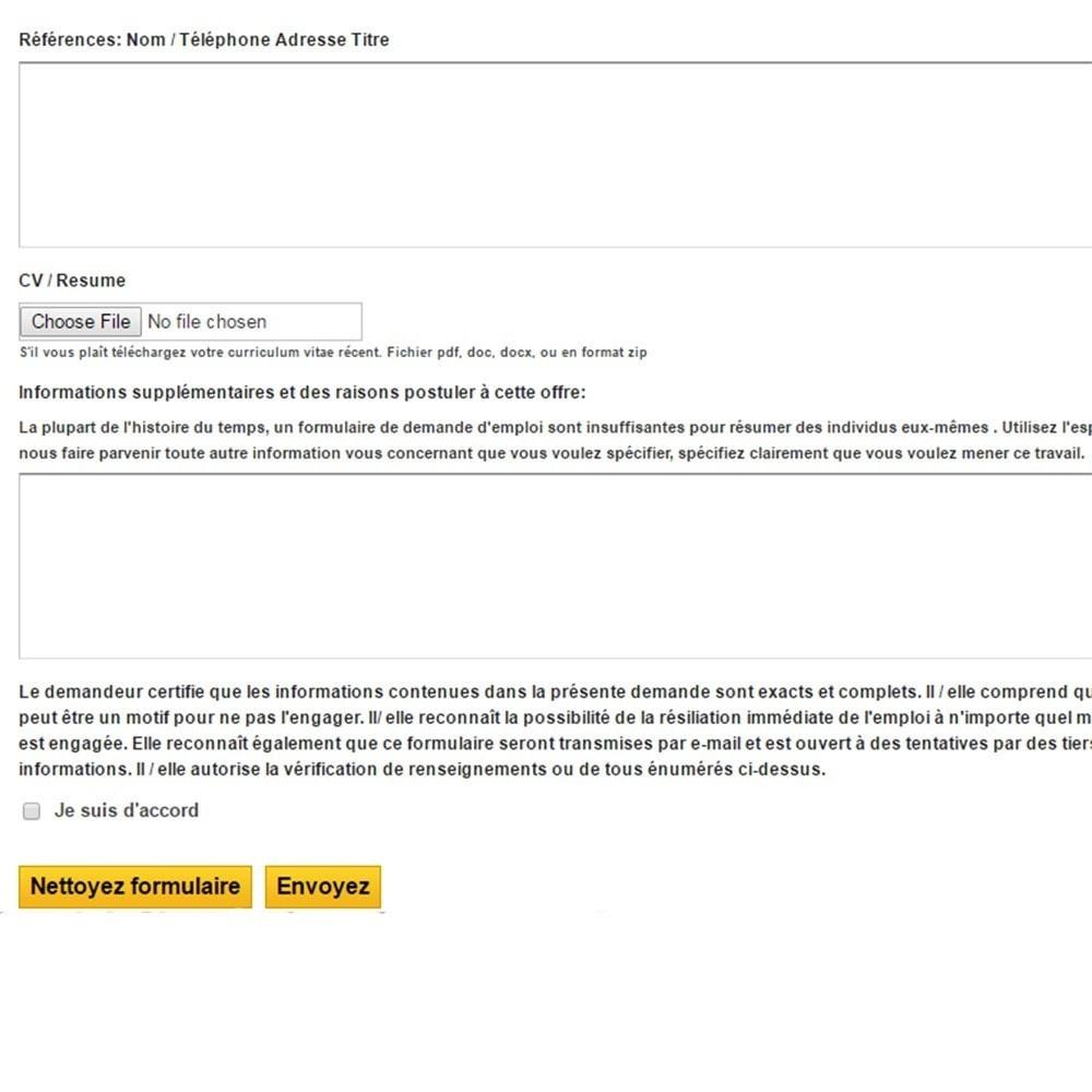 module - Formulaires de Contact & Sondages - Formulaire de Demande d'Emploi - 8