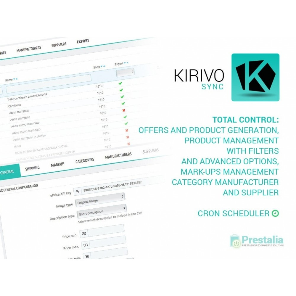 module - Revenda (marketplace) - Sync your PrestaShop store with Kirivo marketplace - 1
