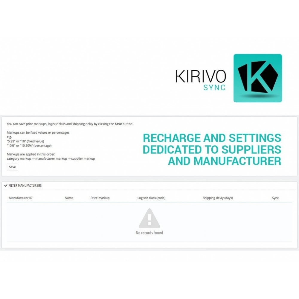 module - Revenda (marketplace) - Sync your PrestaShop store with Kirivo marketplace - 3