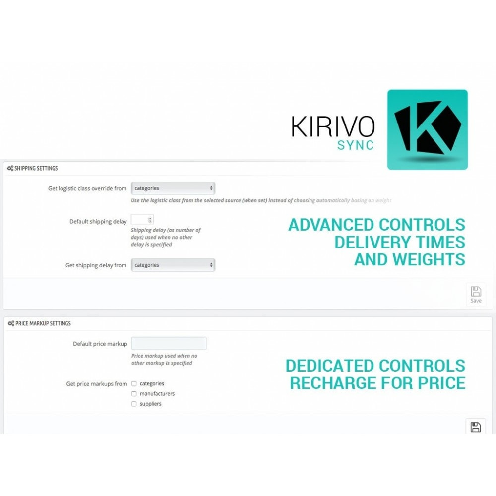 module - Marktplätze - Sync your PrestaShop store with Kirivo marketplace - 6