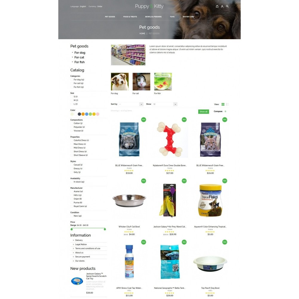 theme - Animais - Puppy&Kitty Pet Shop - 5