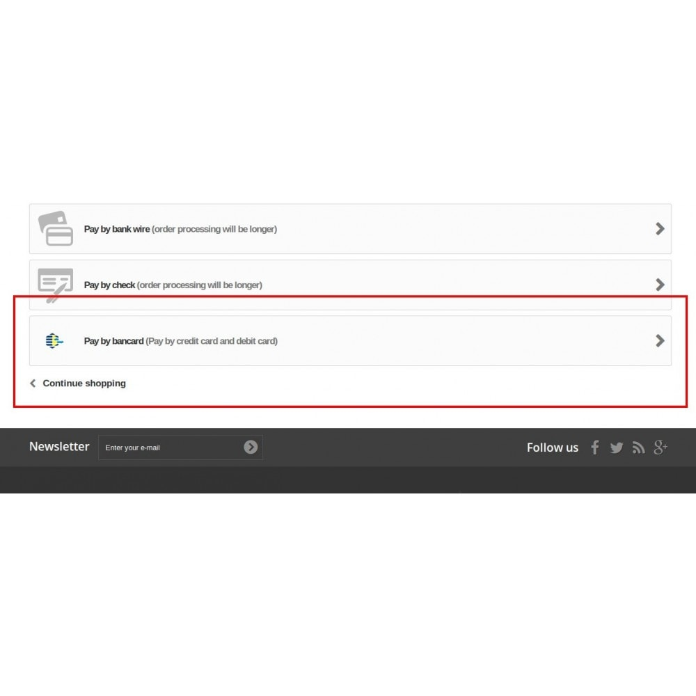 module - Оплата банковской картой или с помощью электронного кошелька - Bancard Payment Gateway - 3