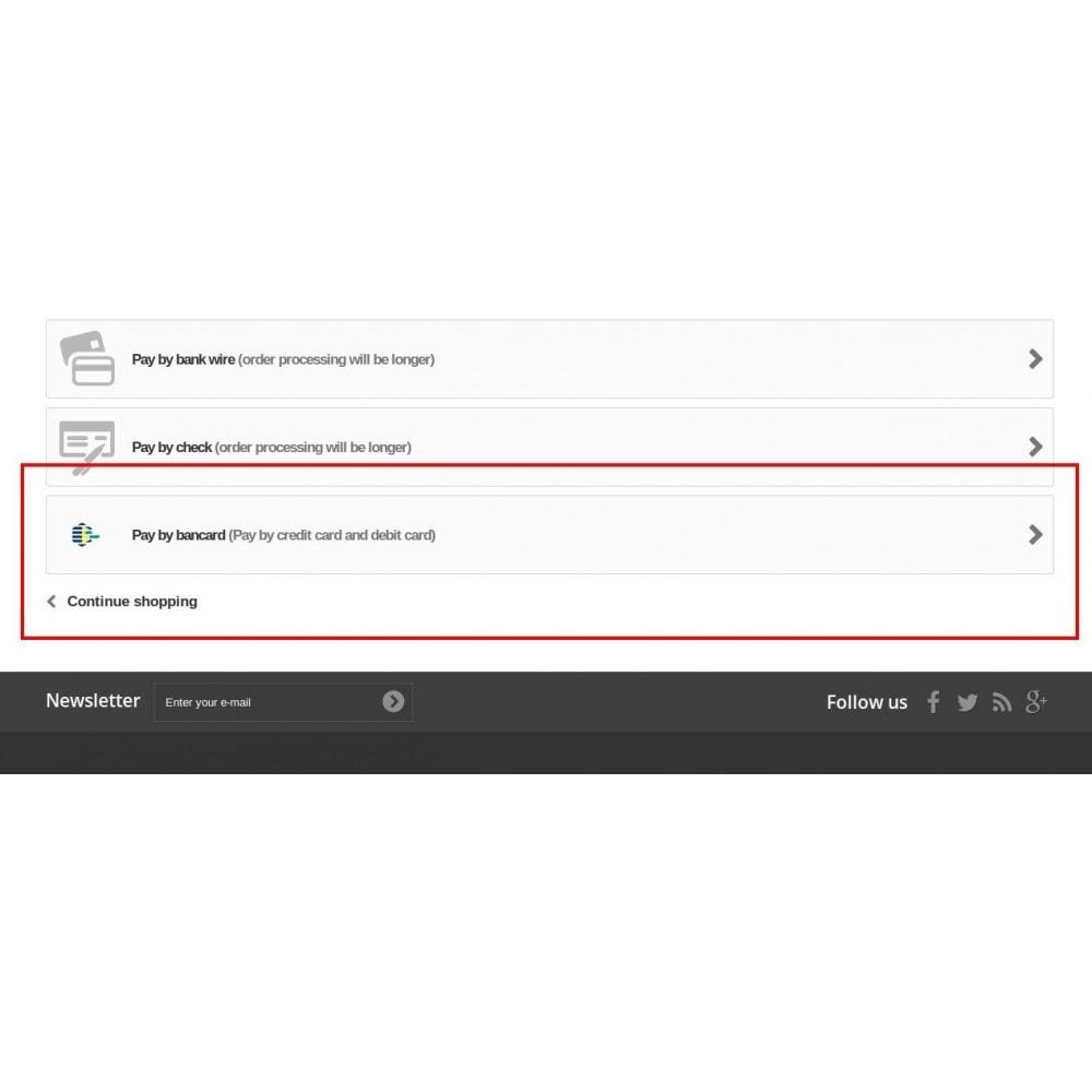 module - Zahlung per Kreditkarte oder Wallet - Bancard Payment Gateway - 3