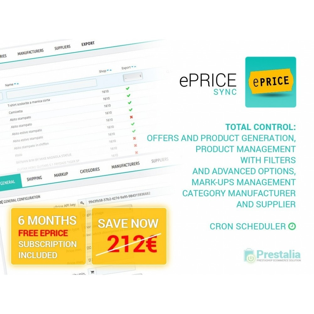 module - Places de marché (marketplaces) - Sync your PrestaShop store with Eprice marketplace - 1