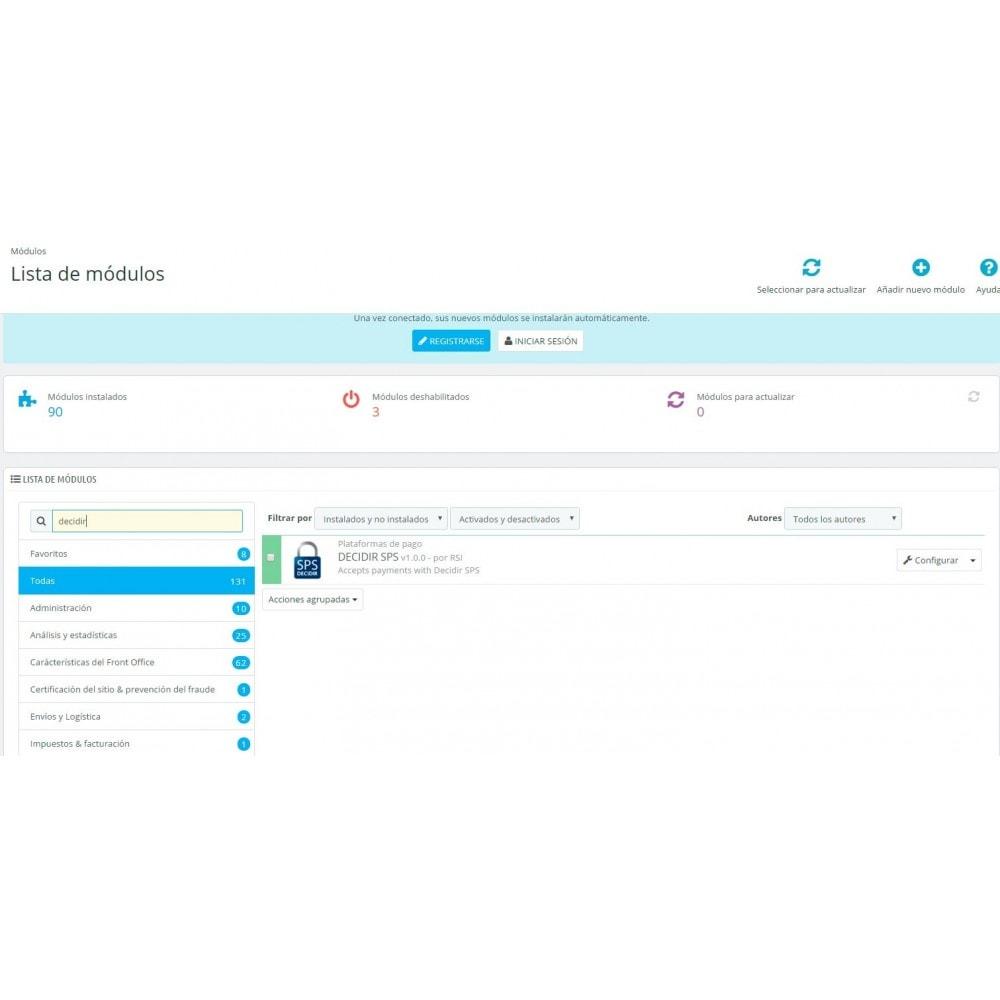 module - Pago con Tarjeta o Carteras digitales - Decidir SPS payment gateway - 2