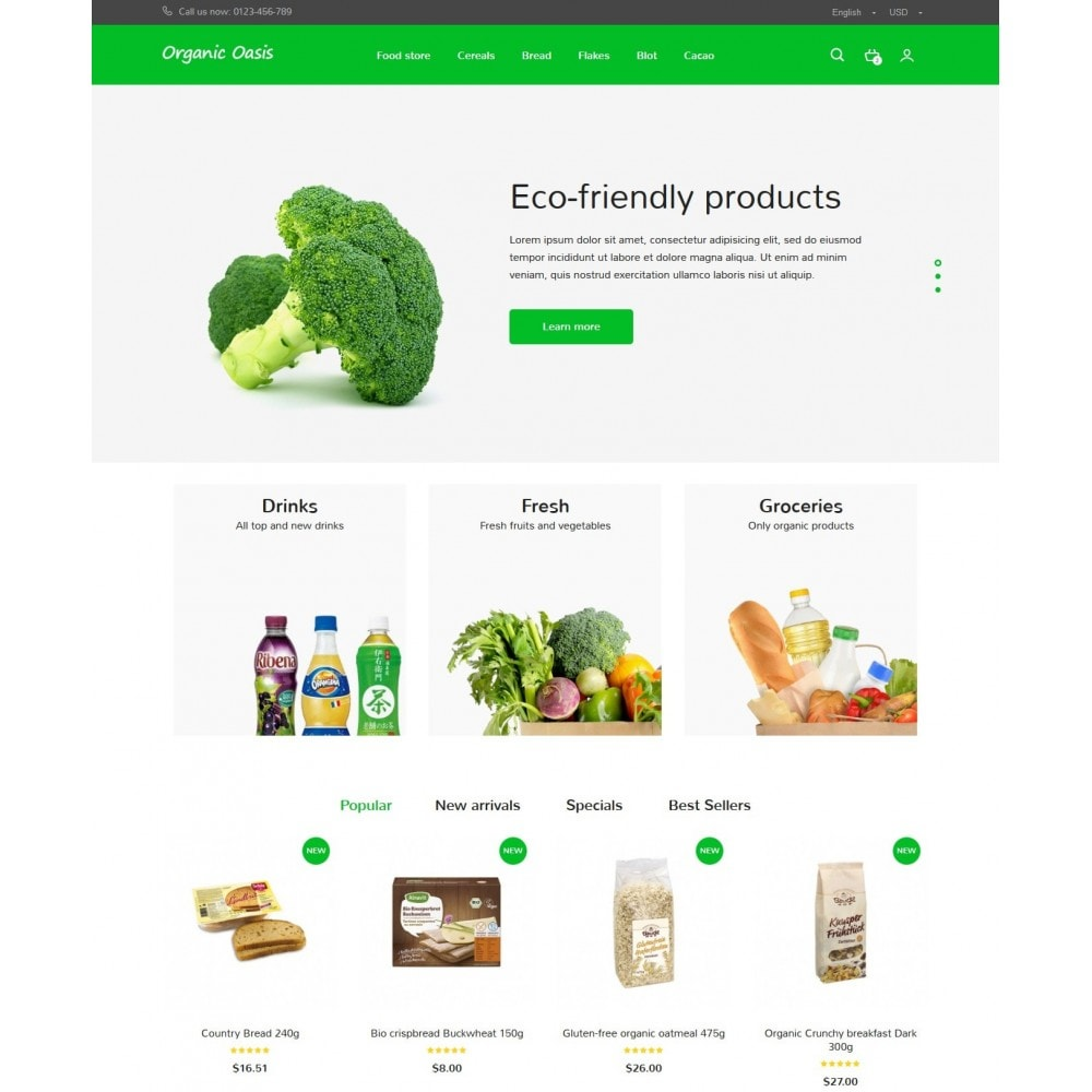 theme - Alimentation & Restauration - Organic Oasis Store - 2